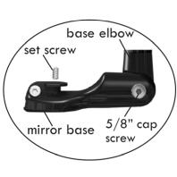 Mirrycle road mirror base elbow